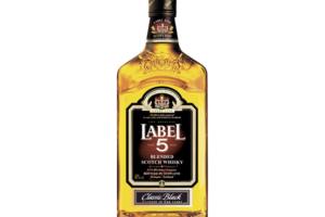 Label 5 whiskey